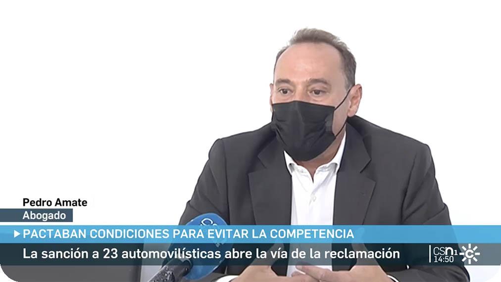 Canal Sur destaca la labor de Pedro Amate, titular de Law Consulting en el asesoramiento contra el cartel de coches