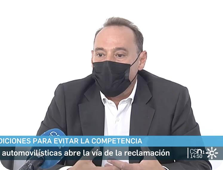 Canal Sur destaca la labor de Pedro Amate de Law Consulting contra el cártel de coches